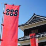 上田城と真田の六文銭画像